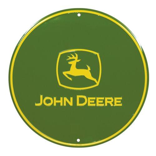 John Deere Round Sign, Green, John Deere Logo