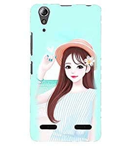 PRINTSHOPPII GIRLY Back Case Cover for Lenovo K3 Note
