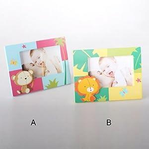 Marco de fotos infantil animales madera (17,5x13,5 cm) fotografías de 12,5x8,5 - A marca Home Line - BebeHogar.com
