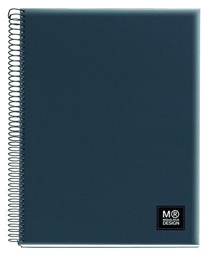 miquelrius-2722-carnet-5-couleurs-a4-quadrille-125-feuilles-80-g-polypropylene-gris-anthracite
