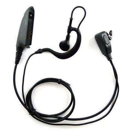 Abcgoodefg G Shape Earpiece Headset For Motorola Multipin Radio Ht750 Ht1250 Ht1250Ls Ht1550 Ht1550Xls Mt850 Mt850Ls Mt950 Mt8250 Mt8250Ls Mt9250 Etc.
