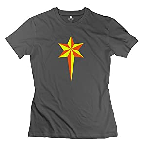 Printed STAR Christmas Best Ladies Tee 100% Cotton
