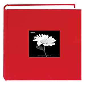 Pioneer 200 Pocket Fabric Frame Cover Photo Album, Apple Red