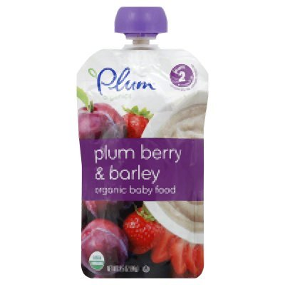 Plum Organics Baby Second Blends Fruit And Grain Plum Berry And Barley 3.5-Ounce (Pack of 6)
