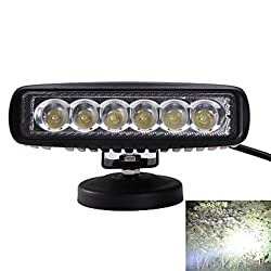 See DIY IP67 Waterproof 18W 1170lm 6000K White Light Spot Beam LED Car Modification Light 10~30V DC (Holder Not Included) Details