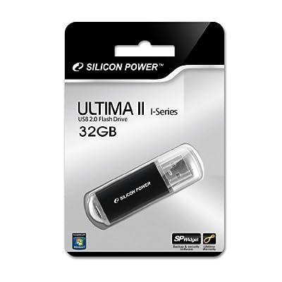 Silicon Power Ultima II-I Series 32 GB USB 2.0 Flash Drive - SP032GBUF2M01V1K (Black)