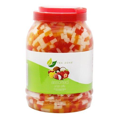 Assorted Yogo Jelly, Flavorful Beverage Sensation & Dessert Enhancer, 8lb Jar (Rainbow Jelly compare prices)