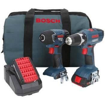 Factory-Reconditioned Bosch CLPK24-180-RT 18V Cordless Lithium-Ion 3/8 in. Drill Driver and Impact Driver Combo Kit