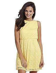 Prym Women's A Line Dress (1011507101_Yellow_Large)