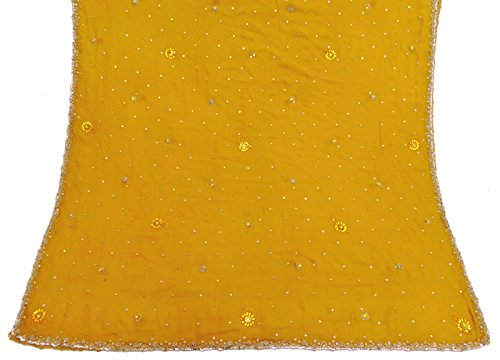 jahrgang-dupatta-lange-indische-georgette-gestickte-gewebe-gelbe-schleier-stola-hijab