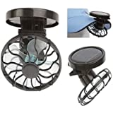 Vale Eco-friend Clip On Hat Cap Mini portable solar fan Sun Energy Power Panel Cell Cooling Fan Fishing Camping Hiking Outdoor Black