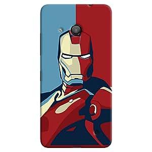 ColourCrust Microsoft Lumia 550 Mobile Phone Back Cover With Iron Man - Durable Matte Finish Hard Plastic Slim Case