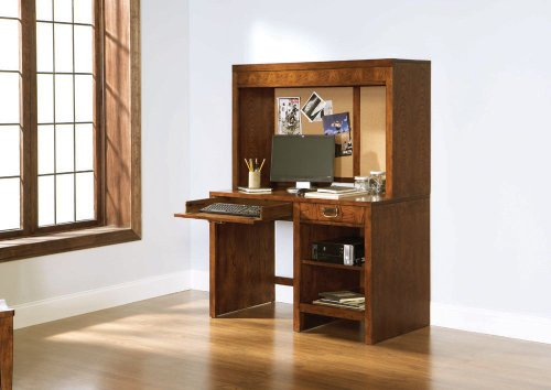 Buy Low Price Comfortable Computer Desk w/ Computer Hutch by Broyhill – Cinnamon Finish (6735-381R) (B004ZLJV7S)