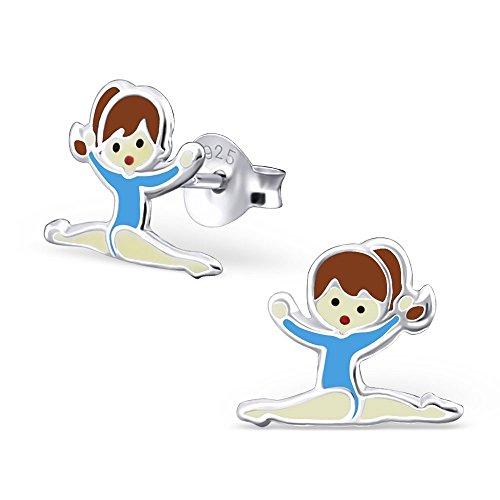 maillot-de-gimnasia-chica-pendientes-con-azul-plata-de-ley