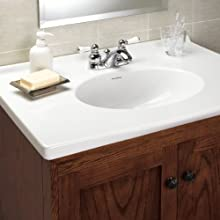 American Standard 7411.732.002 Hampton Two-Lever Handle Centerset Lavatory Faucet with Speed Connect Pop Up Drain, Polished Chrome
