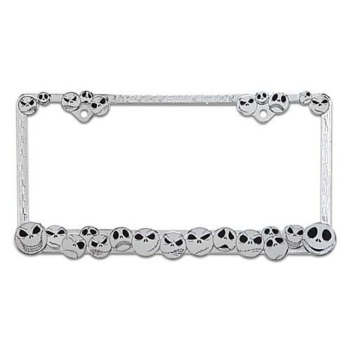 Nightmare Before Christmas Jack Skellington Chrome License Plate Frame - Disney Parks Exclusive & Limited Availability (Nightmare License Plate Frame compare prices)