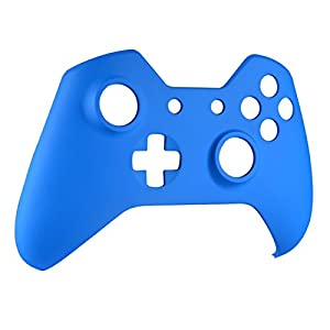 eXtremeRate Custom Design Unique Top Shell Case Front Housing Replacement Faceplate Kits for Xbox One Remote Controller Cover (Soft Touch Blue) (Color: Soft Touch Blue)