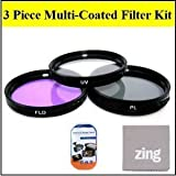 Big Mike'S 82Mm Multi-Coated 3 Piece Filter Kit (Uv-Cpl-Fld) For Canon Xf300 Xf305 Camcorder + Microfiber Cleaning Cloth + Lcd Screen Protectors