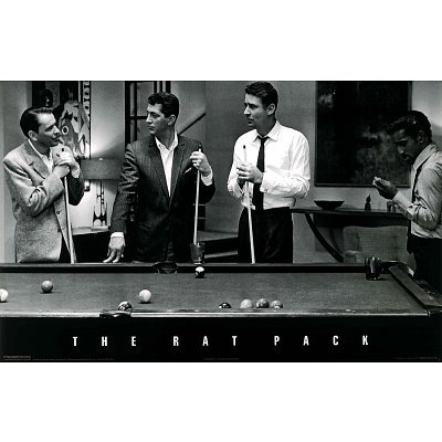 Professionally Framed Rat Pack (Pool Table - Oceans Eleven) Photo ...