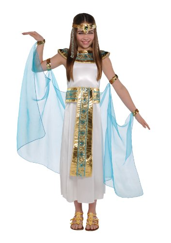 Child's Girl's Egyptian Queen Cleopatra Halloween Fancy Dress Party Costume