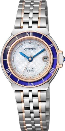 [シチズン]CITIZEN 腕時計 EXCEED EUROS エクシード ユーロス Eco-Drive エコ・ドライブ 電波時計 ペアモデル ES1035-52A レディース