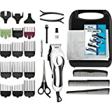 Wahl 79524-6001 Chrome Pro 27 Piece Haircutting Kit, White/chrome