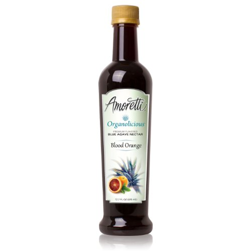 Amoretti Organolicious Blood Orange Flavored Blue Agave Nectar (375Ml)