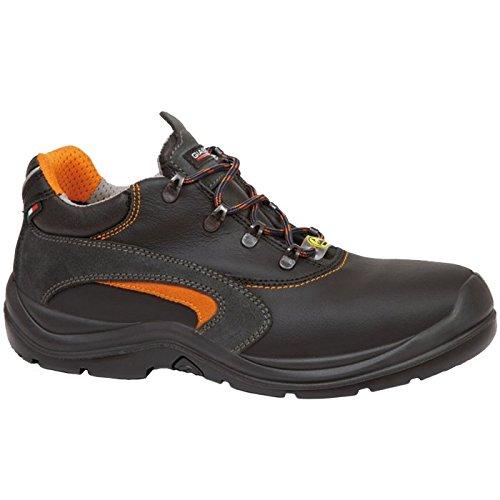 Scarpe Giasco Salvador S3, taglia 45, 1pezzo, nero/arancione, ac003d45