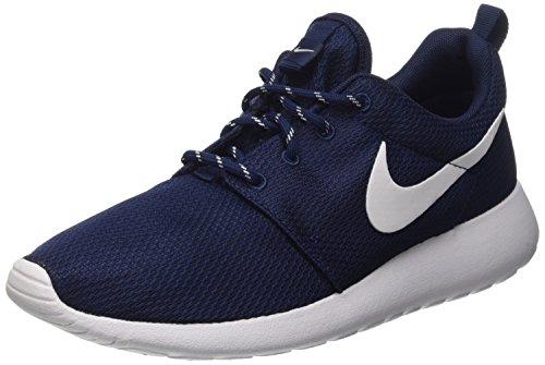 Nike Wmns Roshe One Scarpe da ginnastica, Donna, Blu (Midnight Navy/White), 39