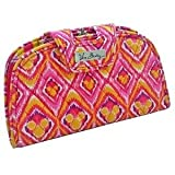 Disney Parks Exclusive Vera Bradley BOUNCING BOUQUET Kiss and Snap Wallet Clutch Pink ikat with yellow Mickey heads