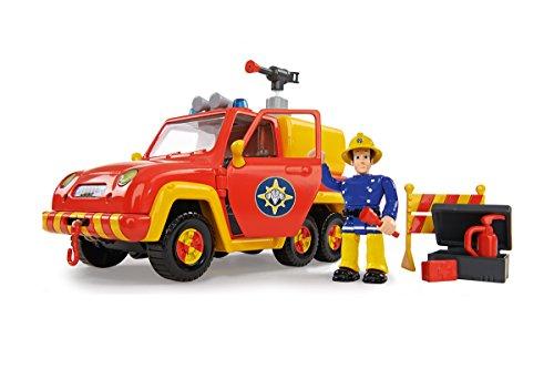 Fireman Sam 109257656 - Firetruck Venere Figura, Rosso / Giallo
