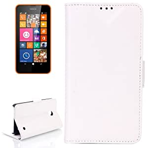 Oil Leather Case with Credit Card Slot & Holder for Nokia Lumia 630 (White)