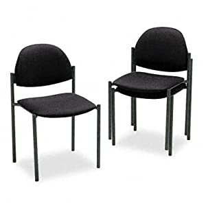 ~:~ GLOBAL INDUSTRIES, INC. ~:~ Comet Armless Stacking Chairs, Black Olefin Fabric, Three/carton