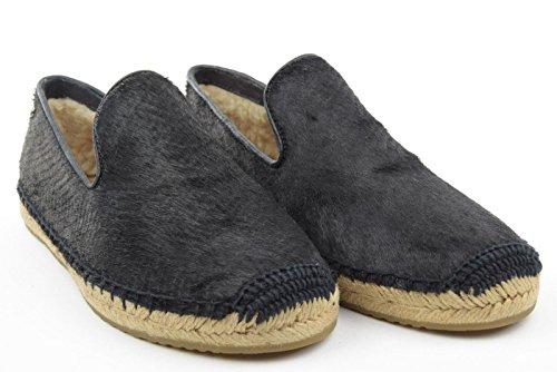 UGG scarpe donna espadrillas W SANDRINNE CALF HAIR SCALES nero TG 37