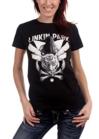 Linkin Park - - Junge Frauen Crossbones Babydoll T-Shirt In Black, X-Large, Black