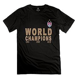 QDYJM Men's USA Women Team FIFA 2015 World Champions T-shirt - M Black