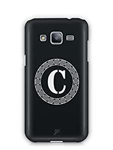 YuBingo Monogram with Beautifully Written letter C Mobile Case Back Cover for Samsung Galaxy J2