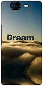 Snoogg Dream Clouds Designer Protective Back Case Cover For Micromax Canvas Knight A350