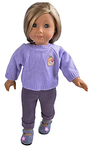 Ebuddy New Handmade Sweater Tops jeans Doll Clothes Fits 18 Inch Girl Dolls