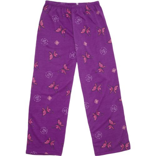 Life Is Good Butterfly Sleep Pants, Vibrant Violet, Medium front-697135