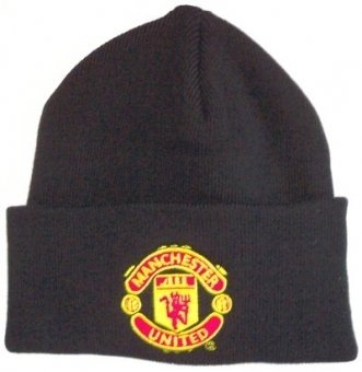 OFFICIAL MANCHESTER UNITED F.C BLACK BRONX HAT WITH CLUB CREST ..