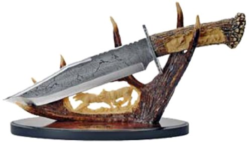 Szco Supplies Wolf Antler Display Knife
