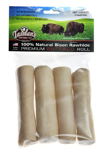 All-Natural Buffalo (Bison) Rawhide Rolls - 4
