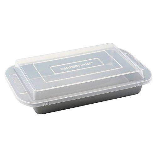 Premium Faberware Non Stick Cake Baking Pan with Cover and a Jamie Soft Grip Potato Masher Combo (Farberware Bread Pan compare prices)