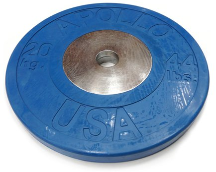 Deluxe Rubber/Chrome Olympic Plate 20Kg x1