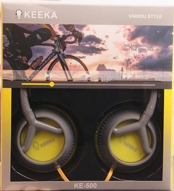 "Keeka ""Comfort Ear"" Bright Color Casque Stereo Headphones - Grey (Ke-500-2)"