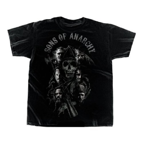 Sons Of Anarchy - Mens Reaper Cast Blend T-shirt X-large Black
