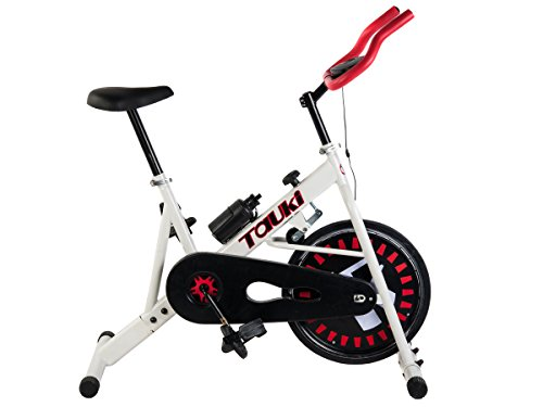 Tauki Indoor Cycling Bike for Health,Fitness,Training and Exercise, Adjustable Resistance, White