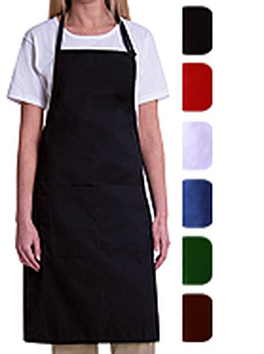 Bib Aprons-1 Piece Pack-new Spun Poly-commercial Restaurant Kitchen-**free Shipping** (Black)