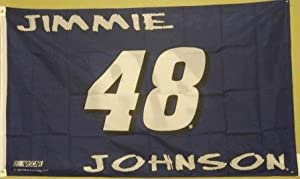 Double-sided Flag, Jimmie Johnson - No. 48, 3-ft. X 5-ft. (Blue) by Dist Edwenda LLC